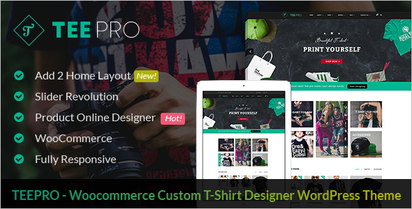 T-Shirt Designer WordPress Theme