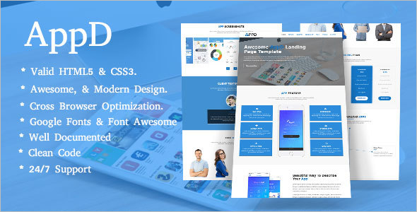 Technology Landing Page Template