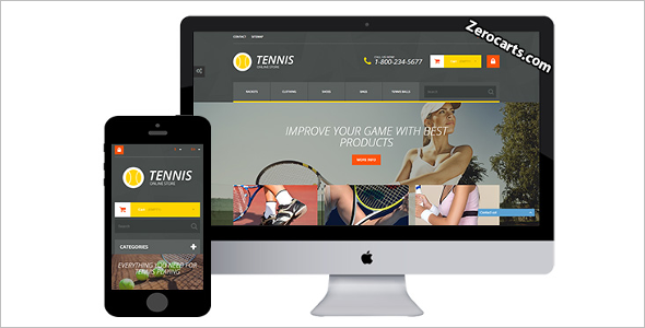 Tennis Prestashop Template