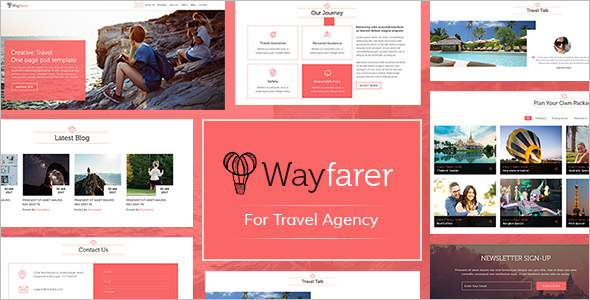 Travel Blog PSD Template
