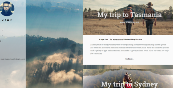 Travel Blog Responsive Template