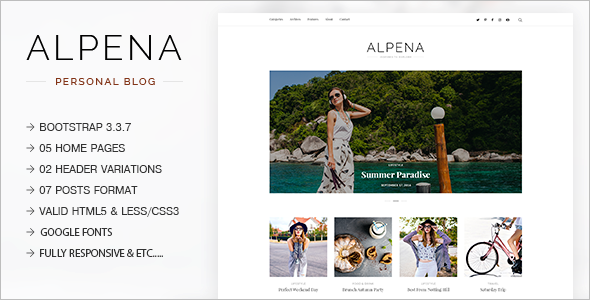 Travel Fashion Blog Template