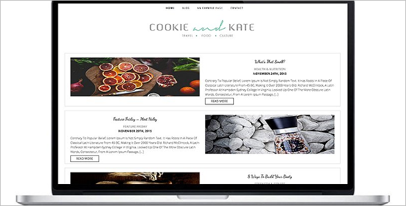 Travel Food Blog Template