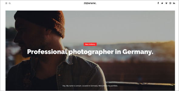 Travel Photography Blog Template
