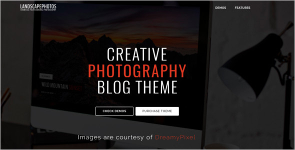 Travel Photography WordPress Theme