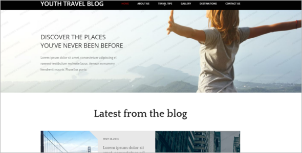 Travel Responsive Blog Template
