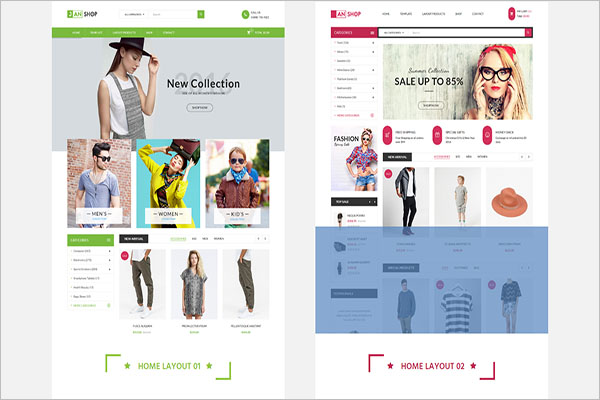 Virtuemart Layout Builder Template