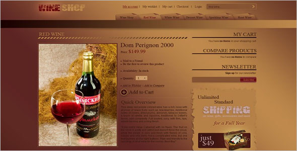 Wine Store Magento Template