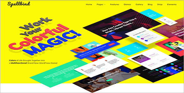 WordPress Designer Landing Page Theme
