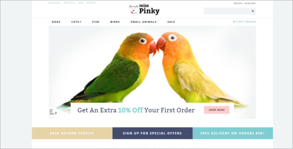 Animal Store OpenCart Template