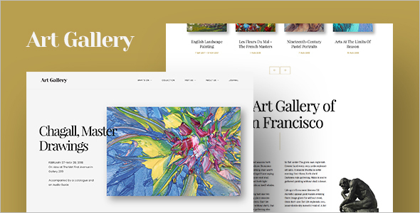 Art Gallery WordPress Template