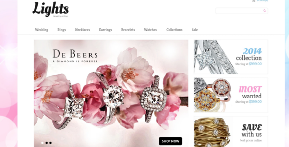 Attractive Jewelry VirtueMart Theme