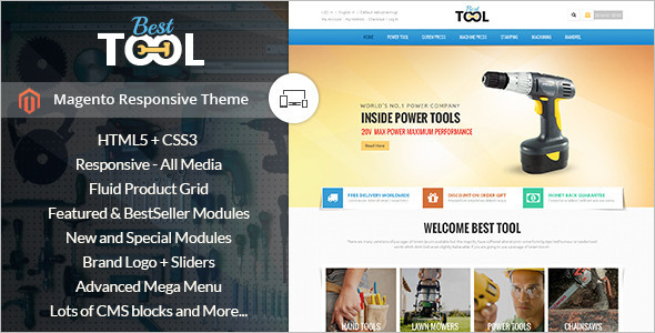 Auto Parts Technology Magento Theme