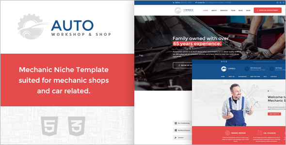 Auto Workshop Website Template