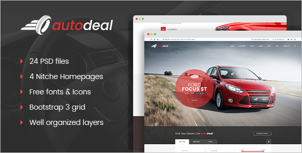 AutoDeal Website Template