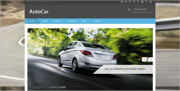 Automobile Bootstrap Website Template