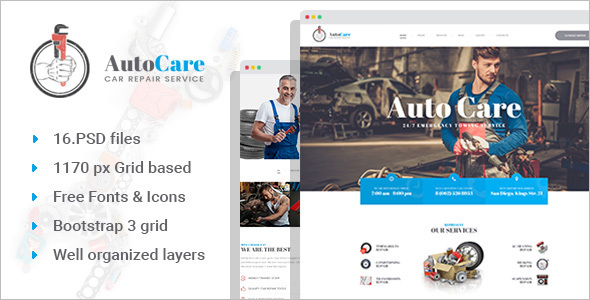 Automobile Website PSD Template