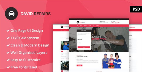 Automobile Website Template Model