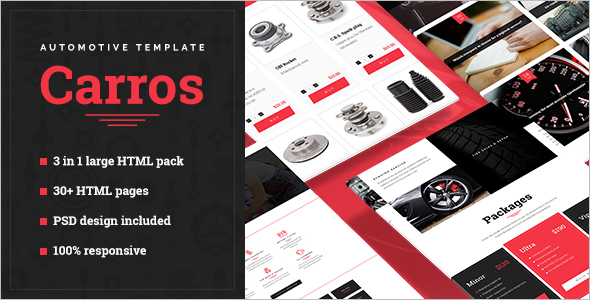 Automotive HTML5 Template