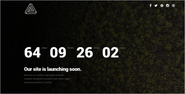 Awesome Coming Soon Website Template