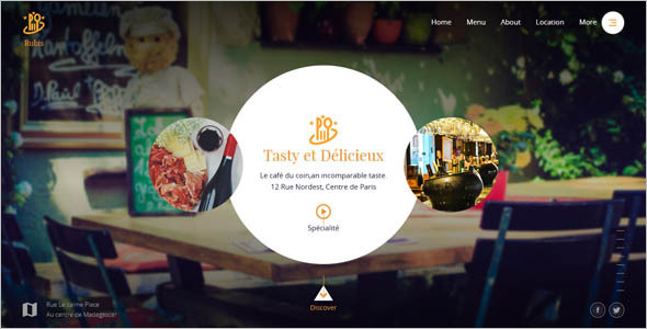 Beautiful Catering Website Template