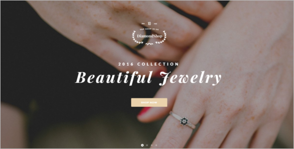 Beautiful Jewelry Website Template