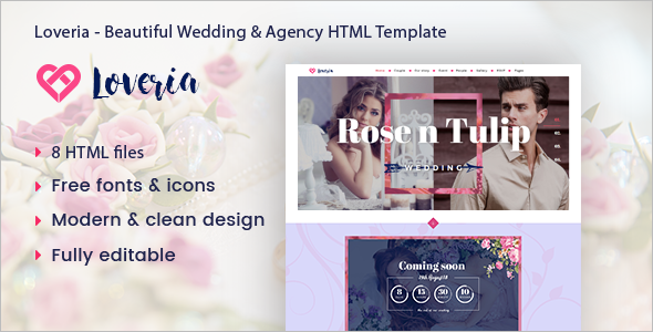 Beautiful Wedding Blog Template