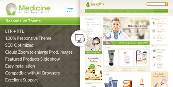 Beauty Medical OpenCart Theme