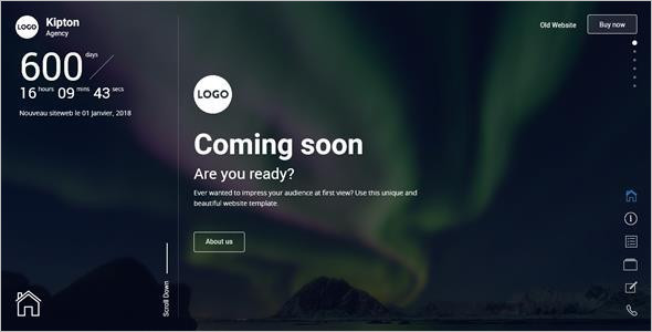 Best Coming Soon Website Template