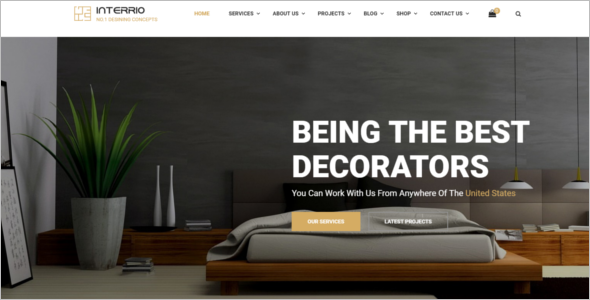 Best Interior Design Website Template