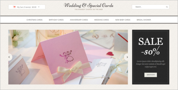 Best Wedding Cards OpenCart Theme