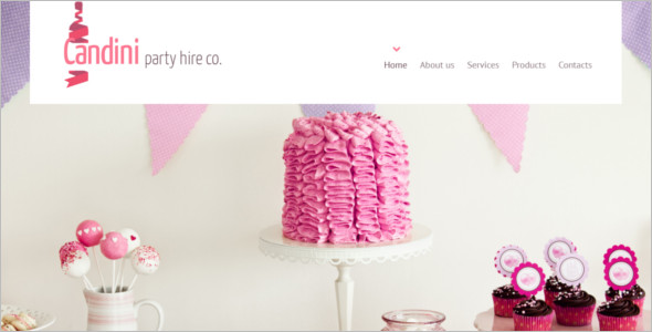 Birthday Candini Website Template
