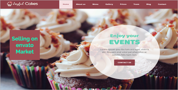 Birthday HTML 5 Website Template