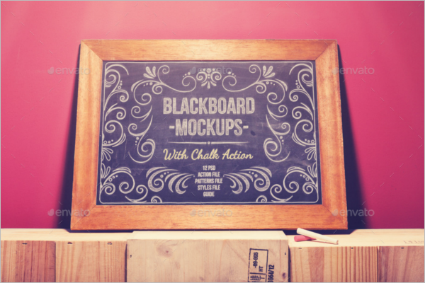 Blackboard Mockup Template