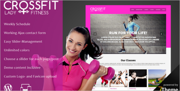 Body Fitness WordPress Theme