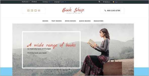 Book Shop OpenCart Template