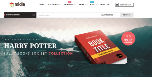 Books Prestashop Theme