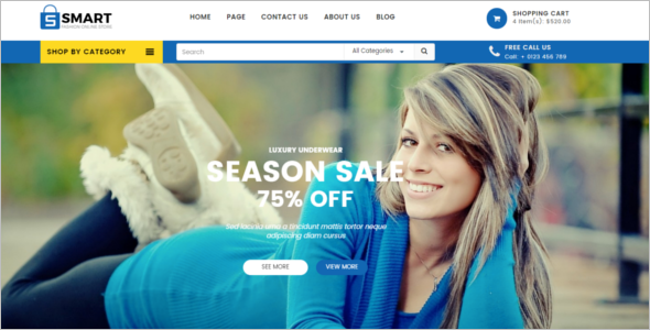 Boutique Store Website Template