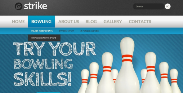 Bowling Sports Drupal Template