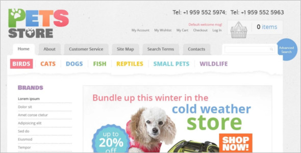Brand Pet store Magento Template