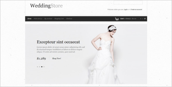 Bridal Store OpenCart Theme