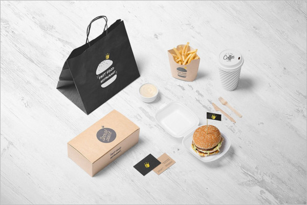 Burger Store Packing Mockup