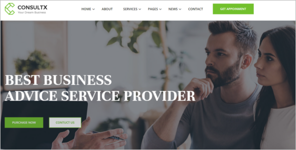 Business Services Website Template