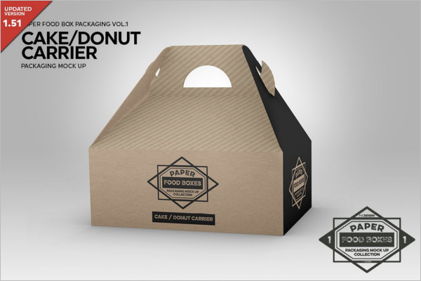 Cake Carrier Packaging MockUp