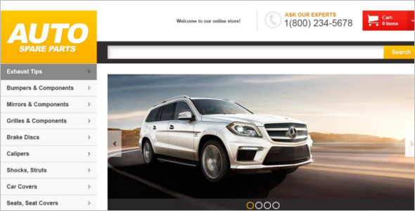 Car Cover Auto Parts Magento Theme