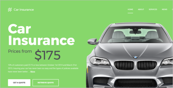 Car Insurance Website Template