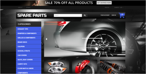 Car Replacement Parts PrestaShop Theme