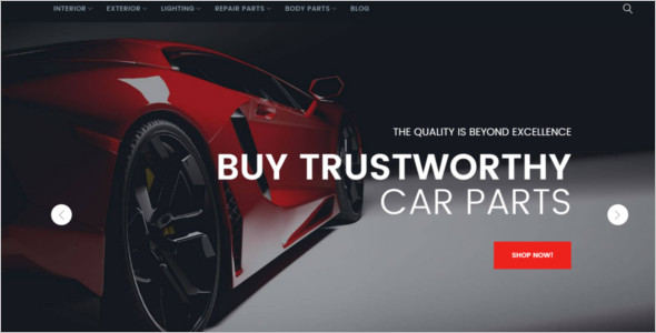 Car Spare Parts Magento Template