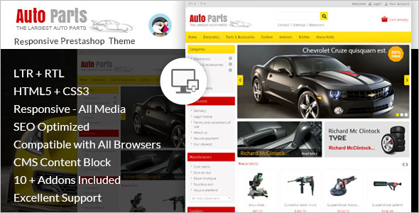 Car Tools Prestashop Theme