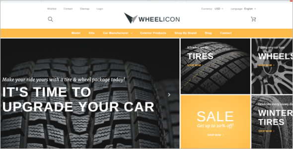 Car Wheel PrestaShop Theme